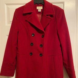 St Johns red pea coat